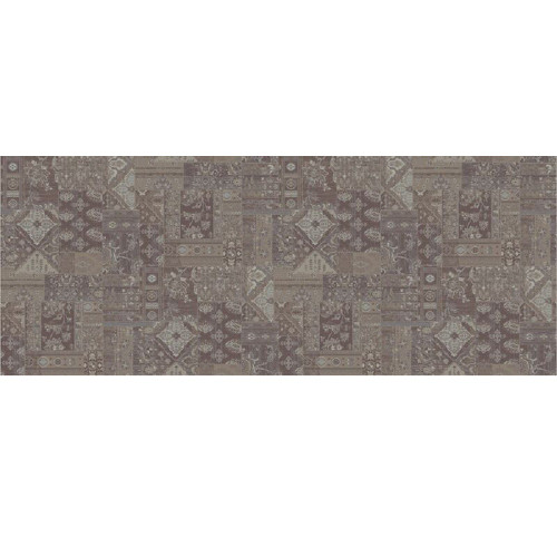 8' Brown and Beige Broadloom Round Area Throw Rug - IMAGE 1