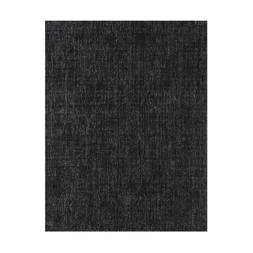 10' x 10' Black and Ivory Square Wool Blend Area Rug - IMAGE 1