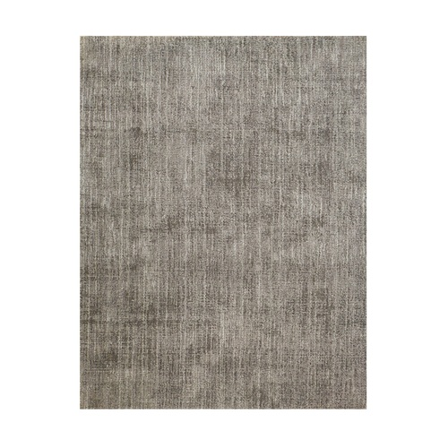 10' x 14' Melbourne Gray and Ivory Broadloom Rectangular Wool-Blend Area Throw Rug - IMAGE 1