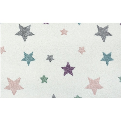 10' x 10' Ivory and Green Broadloom Rigel Star Pattern Square Area Throw Rug - IMAGE 1