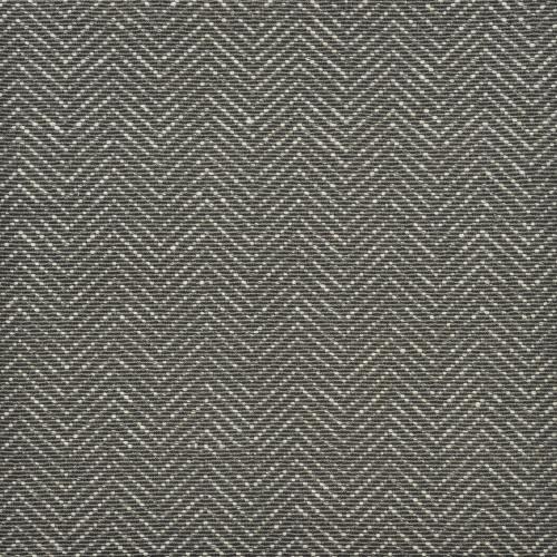 3' x 15' Gray and Ivory Chevron Hand Woven Rectangular Area Throw Rug Runner - IMAGE 1