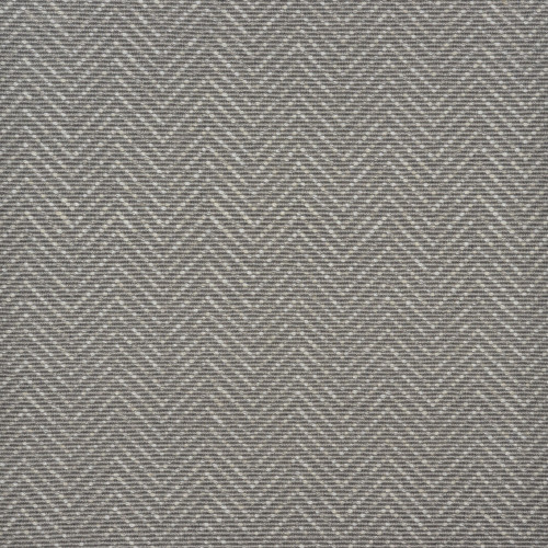 8' Slate Gray and Ivory Chevron Hand Woven Round Area Throw Rug - IMAGE 1