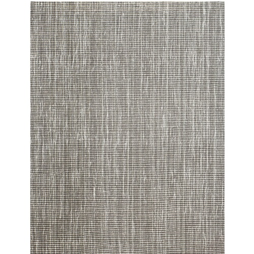3' x 20' Tampa Gray and Ivory Broadloom Rectangular Wool Blend Area Throw Rug Runner - IMAGE 1