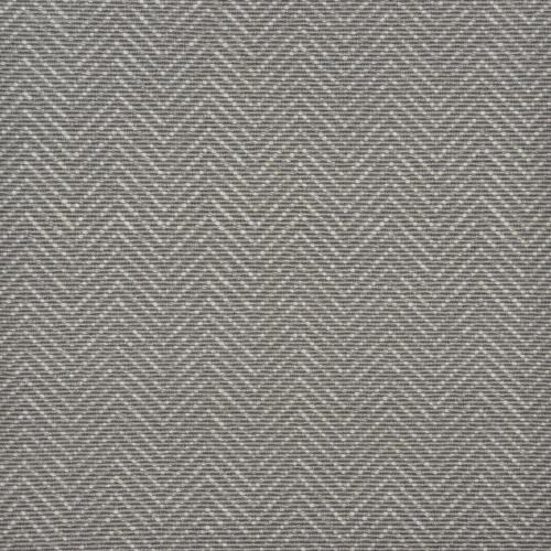3' x 15' Slate Gray and Ivory Chevron Hand Woven Rectangular Area Throw Rug Runner - IMAGE 1