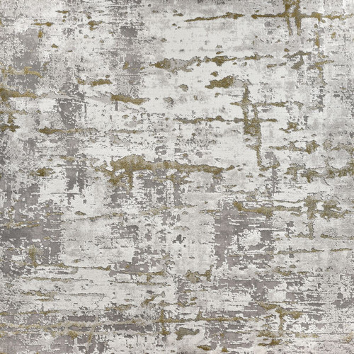 8' x 8' Gifted Green and Ivory Dyed Square Area Throw Rug - IMAGE 1