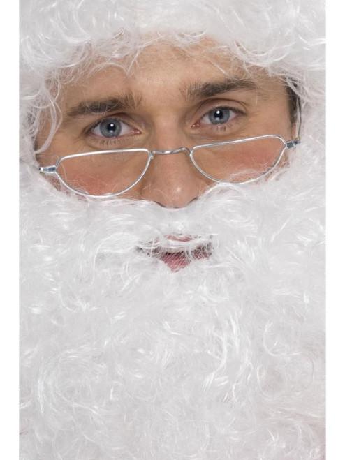 "15"" Silver Santa Half Moon Unisex Adult Halloween Specs Costume Accessory - One Size - IMAGE 1"