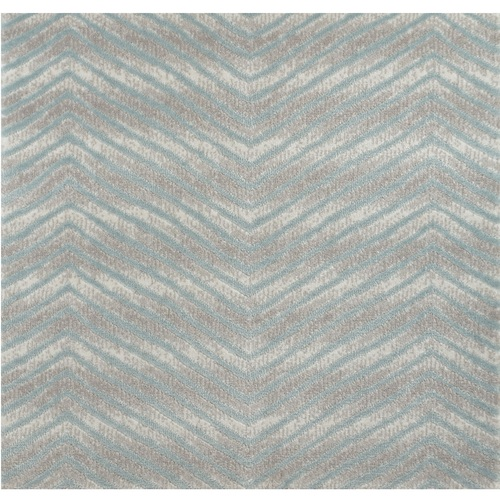 10' Avid Blue and Gray Chevron Round Area Throw Rug - IMAGE 1