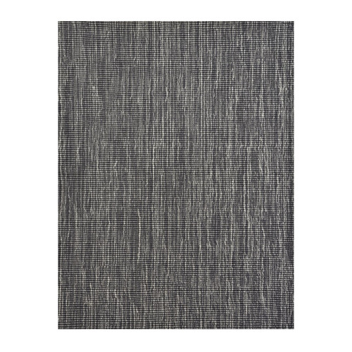 8' Gray and Ivory Broadloom Round Wool Blend Area Rug - IMAGE 1