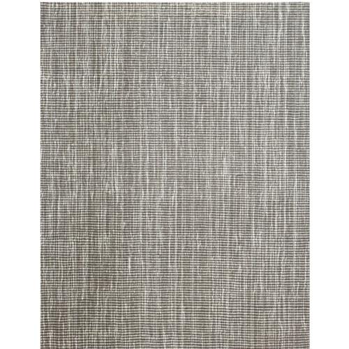 6' x 9' Tampa Gray and Ivory Broadloom Rectangular Wool Blend Area Throw Rug - IMAGE 1