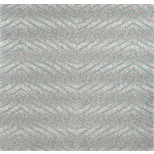 6' x 6' Avid Blue and Gray Chevron Square Area Throw Rug - IMAGE 1