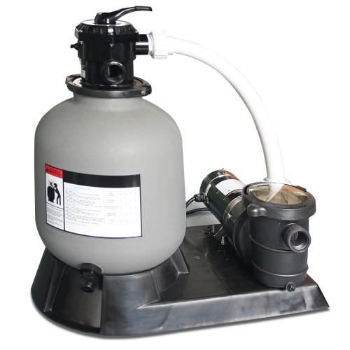 1.0 HP Sand Filter Combo with Pump Pressure for Above Ground Pools, 16-Inch - IMAGE 1