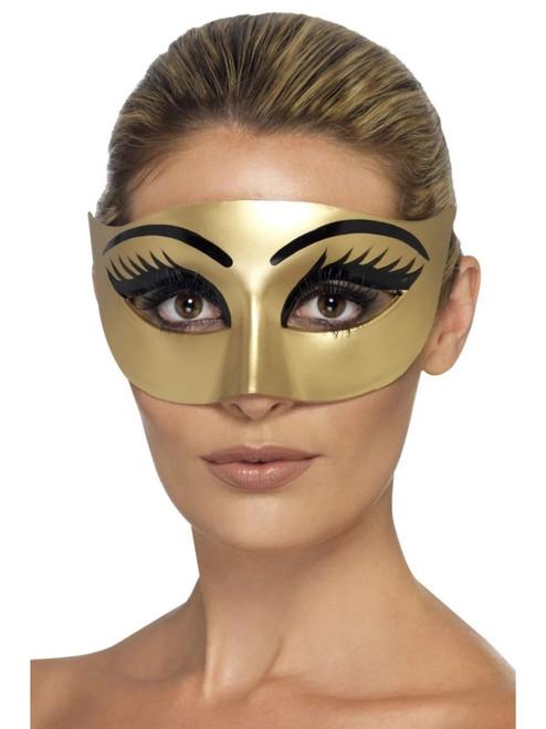 "18"" Gold and Black Evil Cleopatra Women Adult Halloween Eyemask - One Size - IMAGE 1"