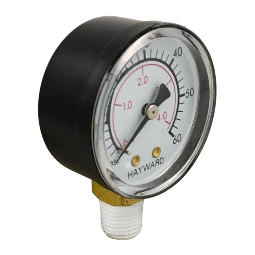 """4.75"""" Black and White Hayward Swimming Pool Boxed Pressure Gauge Replacement - IMAGE 1"""