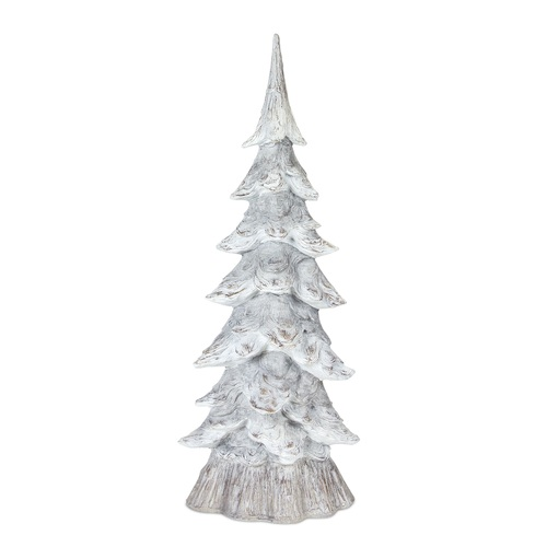 "15.75"" White Decorative Resin Tree - IMAGE 1"
