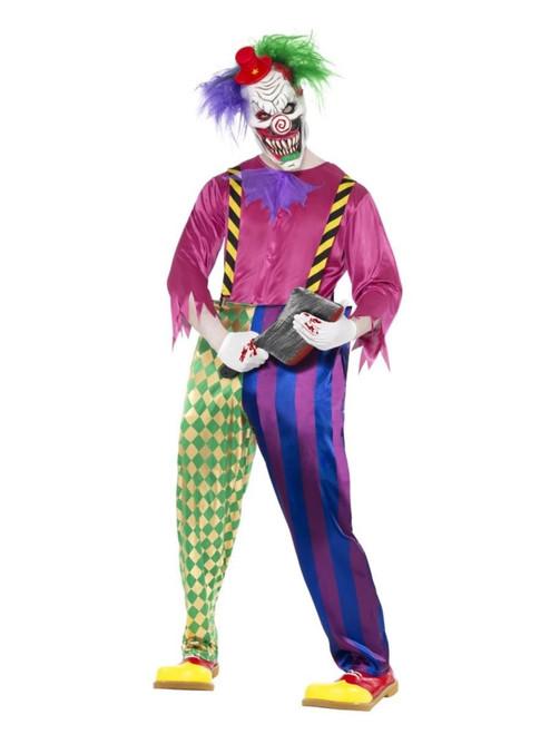 "49"" Pink and Green Killer Klown Men Adult Halloween Costume - Medium - IMAGE 1"