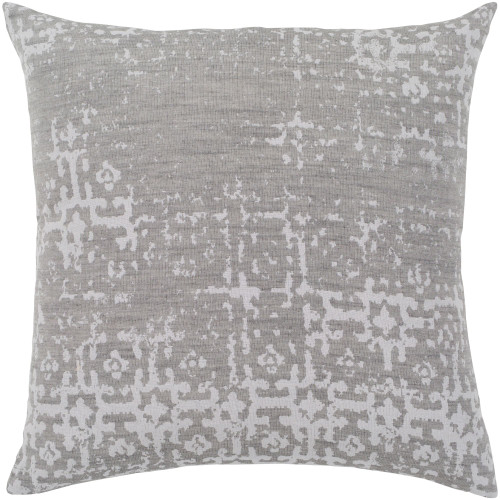 """18"""" Ghost Gray and Brown Earth Patterned Square Throw Pillow - Down Filler - IMAGE 1"""