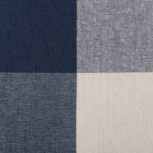 """16"""" Navy Blue and White Checkered Rectangular Medium Bin - IMAGE 1"""
