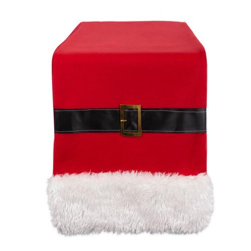 """72"""" Red and White Christmas Santa Belt Table Runner - IMAGE 1"""
