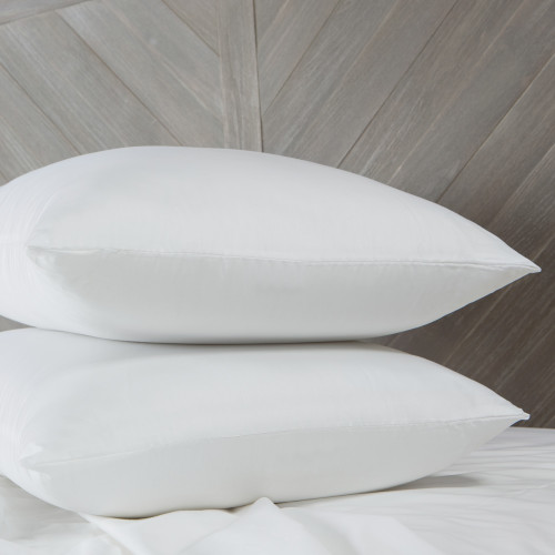 """Set of 2 White CoolMAX Cotton Cover Hypoallergenic Standard King Size Pillow 20"""" - IMAGE 1"""
