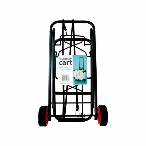 """35"""" Black and Red Portable Folding Luggage Cart - IMAGE 1"""