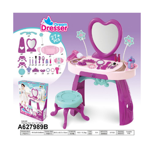 """27-Pieces Beauty Dream Dresser Playset with Chair Children's Toy 27"""" - IMAGE 1"""