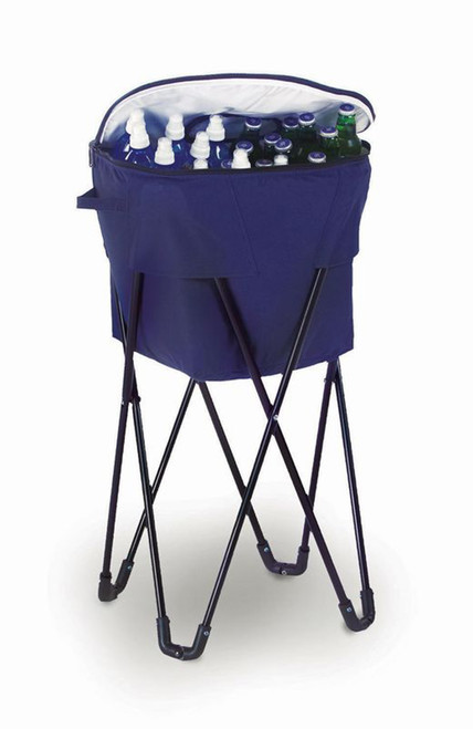 Portable Fold-Up Standing Cooler For Picnics & Tailgating Holds 72 Cans - Navy - IMAGE 1