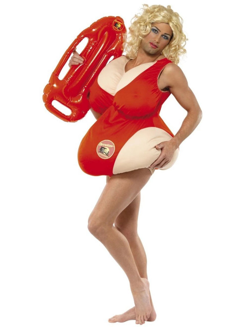 """40"""" Red and Orange Baywatch Unisex Adult Halloween Costume - One Size - IMAGE 1"""