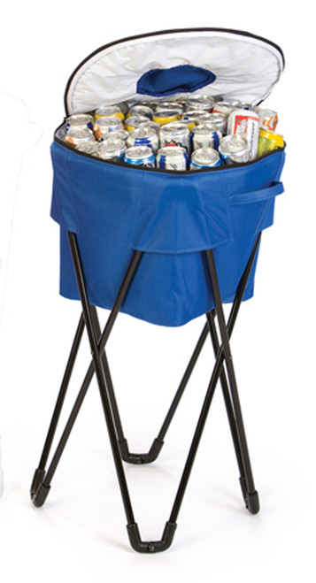 Portable Fold-Up Standing Cooler For Picnics & Tailgating - 72 Cans - Royal Blue - IMAGE 1