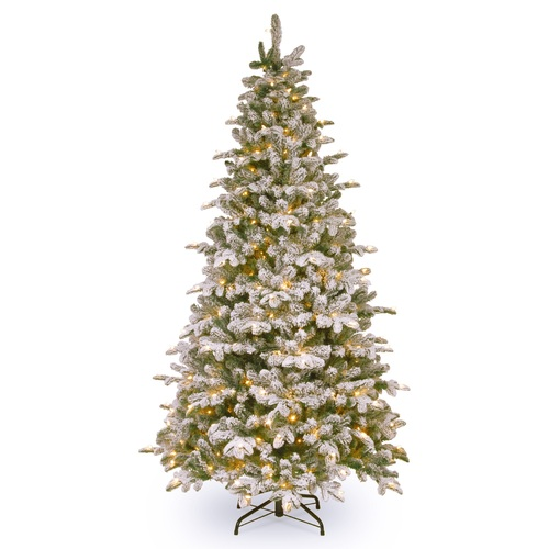 6.5' Pre-Lit Snowy Everest Fir Artificial Christmas Tree - Clear Lights - IMAGE 1
