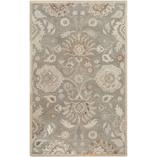 10' x 14' Traditional Style Beige and Gray Rectangular Area Throw Rug - IMAGE 1