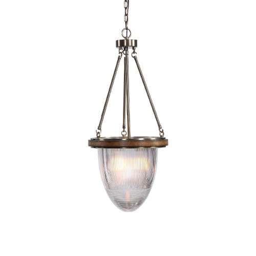 """33"""" Clear Halophane Glass Hanging Light Fixture - IMAGE 1"""