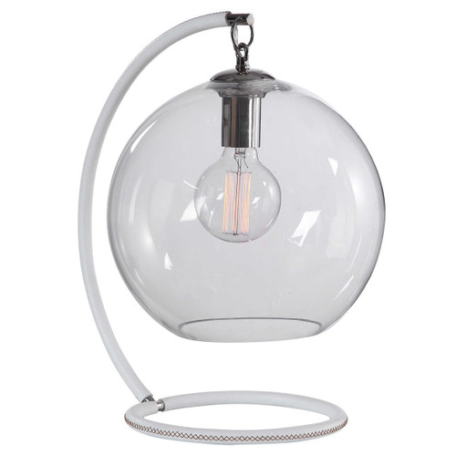 """18"""" White Globe Accent Indoor Table Lamp - IMAGE 1"""