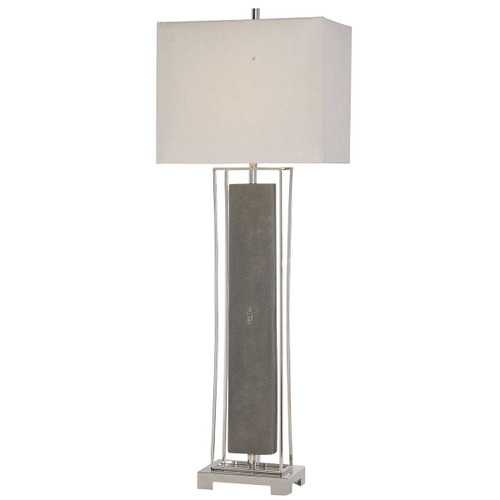 """38"""" Nickel Plated Gray Indoor Table Lamp - IMAGE 1"""