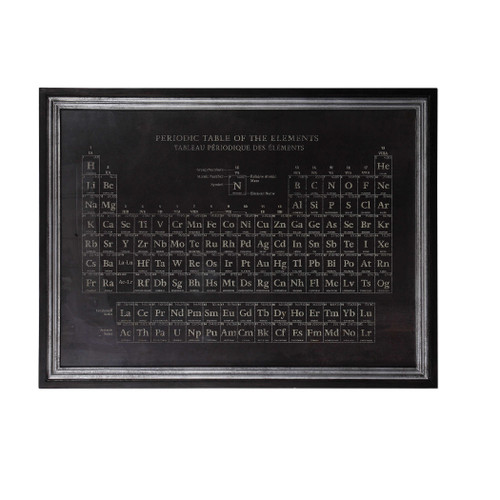 """41"""" x 53"""" Framed Periodic Table of Elements Print Wall Art Decoration - IMAGE 1"""