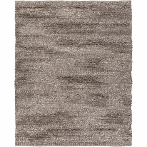 12' x 15' Braided Design Brown and Cream White Rectangular Area Throw Rug - IMAGE 1