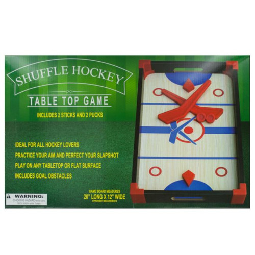 """Pack of 2 Red and Blue 4-Piece Slap Shot Hockey Tabletop Games 20"""" - IMAGE 1"""