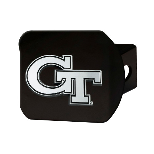 """4"""" Black and Gray NCAA Georgia Tech Yellow Jackets Hitch Cover - IMAGE 1"""