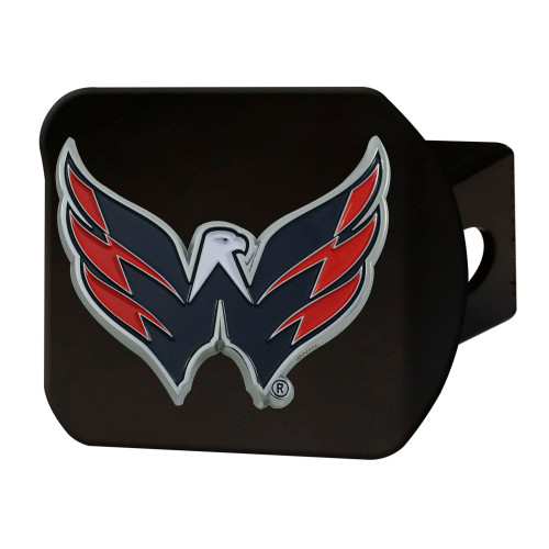 """4"""" Black and Red NHL Washington Capitals Hitch Cover - IMAGE 1"""