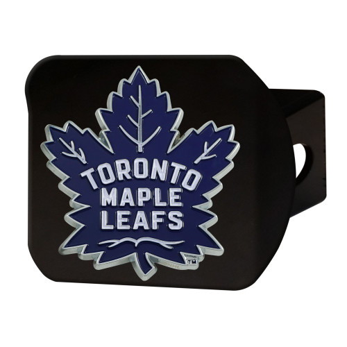 """4"""" Black and Blue NHL Toronto Maple Leafs Hitch Cover - IMAGE 1"""