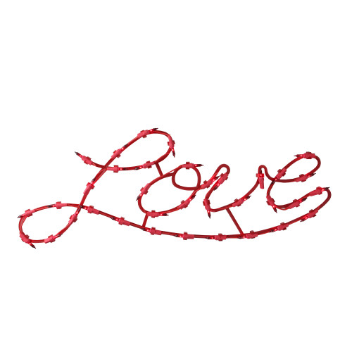 "17"" Lighted Red Love Script Valentine's Day Window Silhouette Decoration - IMAGE 1"