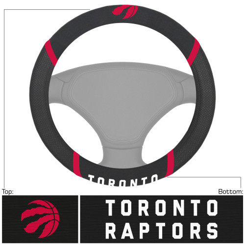 "15"" Black and Red NBA Toronto Raptors Steering Wheel Cover - IMAGE 1"