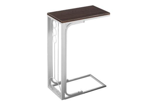 """24.5"""" Brown and Gray Contemporary Rectangular Accent Table - IMAGE 1"""