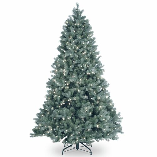 7' Pre-Lit Downswept Douglas Blue Fir Artificial Christmas Tree – Clear Lights - IMAGE 1