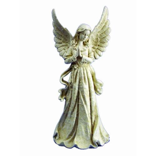 "27"" Angel Standing with Wings Up Outdoor Garden Figurine - IMAGE 1"