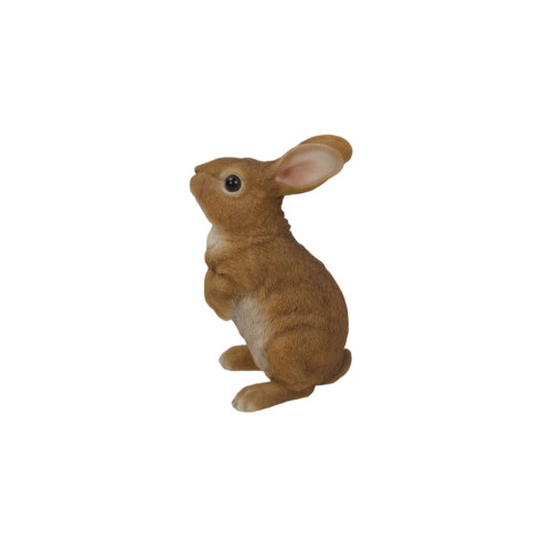 "10"" Brown and White Standing Rabbit Figurine - IMAGE 1"