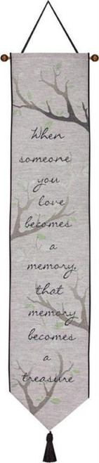 "41"" Gray and Black Love Inspirational Tapestry Wall Hanging - IMAGE 1"