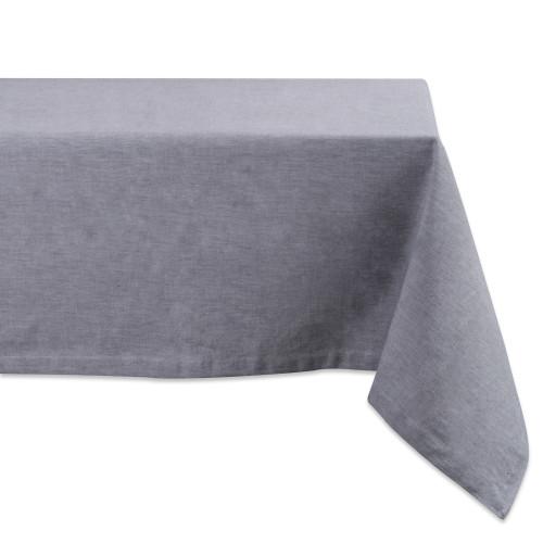 "Gray Chambray Rectangular Tablecloth 60"" x 104"" - IMAGE 1"