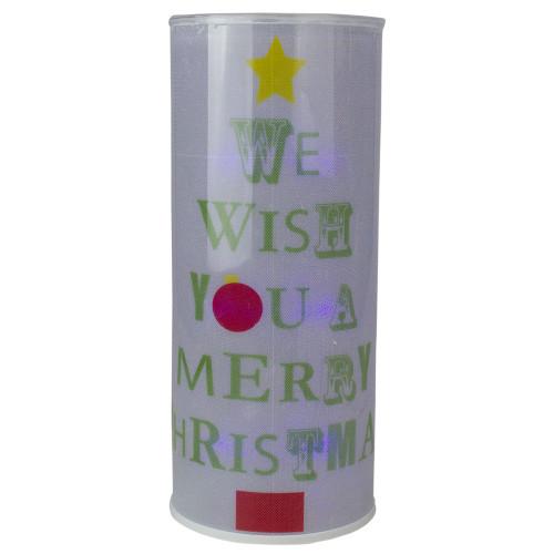"White Translucent Battery Operated Lighted Hanging Christmas Lantern 14"" - IMAGE 1"