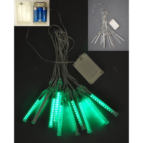 """43.3"""" Green and White Meteor Tube Light with Led - IMAGE 1"""