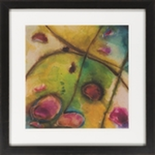 """Purple and Yellow Abstract Series Square Wall Art Decor 27"""" X 27"""" - IMAGE 1"""